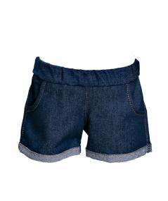 Kurze Jeans-Hose blau