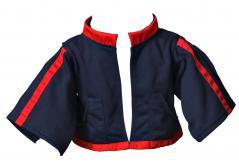 Jacke blau-rot