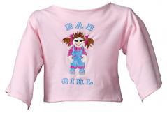 """Shirt """"Bad Girl"""" hellrosa"""