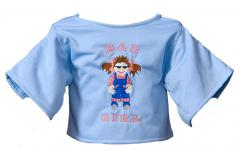 "Shirt ""Bad Girl"" lightblue"