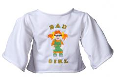 "Shirt ""Bad Girl"" weiß"