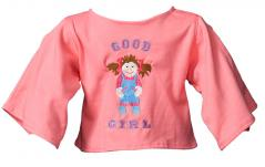 "Shirt ""Good Girl"" lachs"