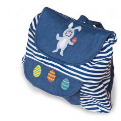 Rucksack blau mit Hase