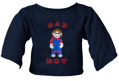"Shirt ""Bad Boy"" dunkelblau"