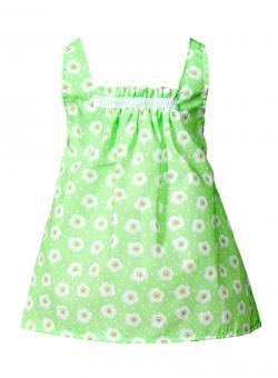 Kleid grün mit Blumendruck