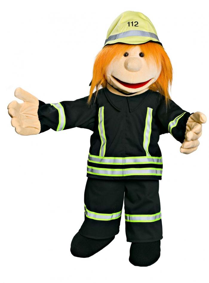 Firefighter-Woman in Black