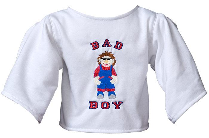 "Shirt ""Bad Boy"" white"