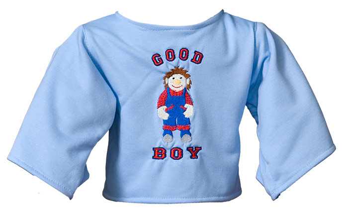 "Shirt: ""Good Boy"" lightblue"