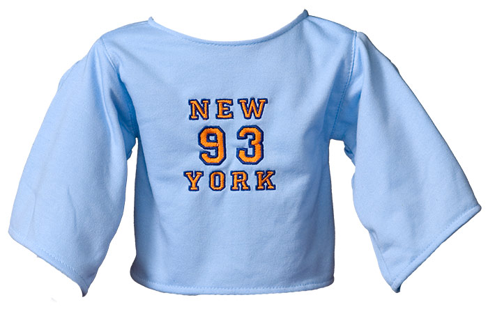 "Shirt: ""New York"" lightblue"