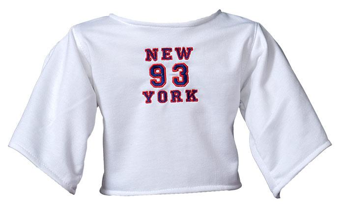 """Shirt """"New York"""" white"""