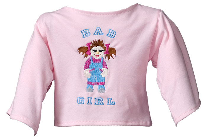 "Shirt: ""Bad Girl"" lightpink"