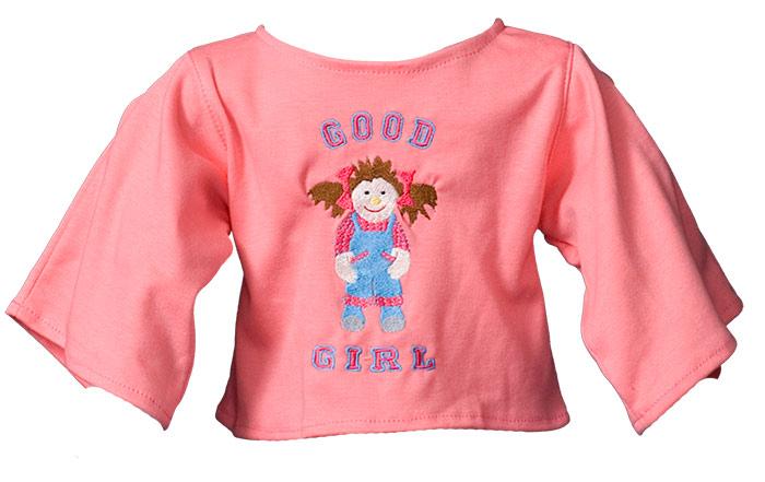 """Shirt """"Good Girl"""" lachs"""