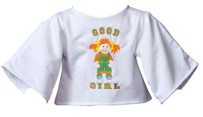 """Shirt """"Good Girl"""" white"""