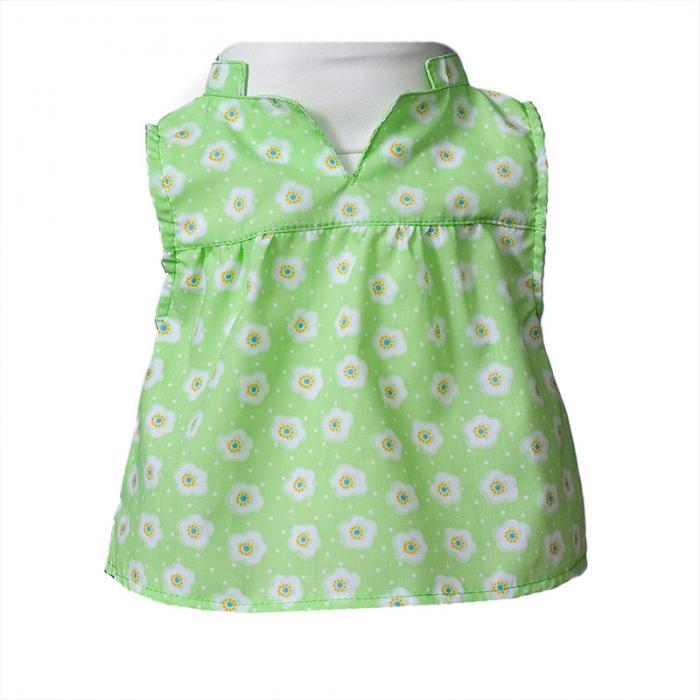 Mini dress in green