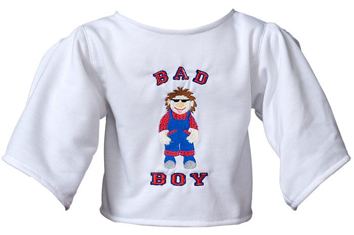 "Shirt ""Bad Boy"" weiß"