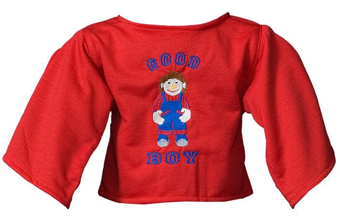 """Shirt: """"Good Boy"""" red"""