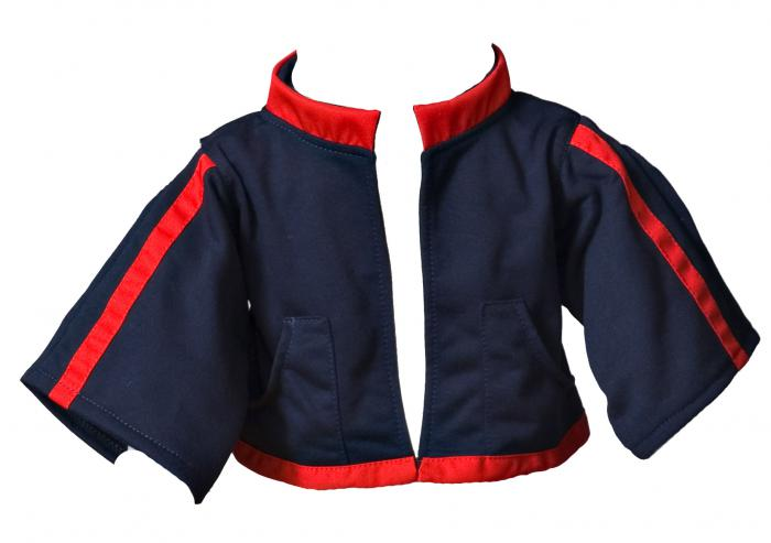 Jacket blue-red
