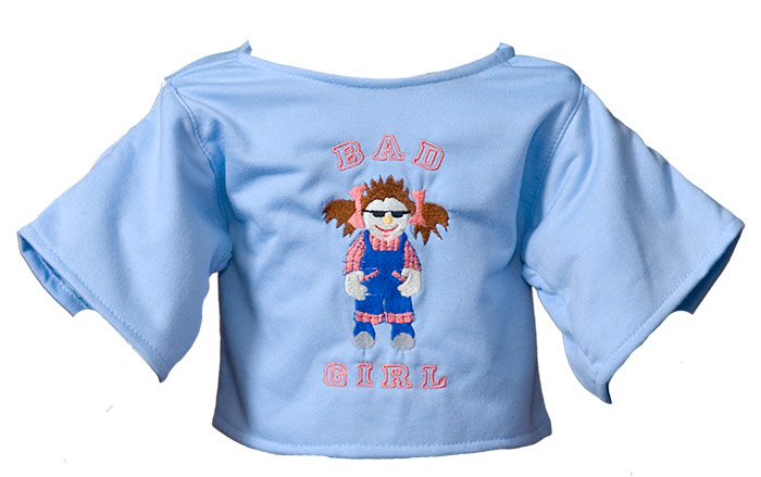 "Shirt ""Bad Girl"" hellblau"