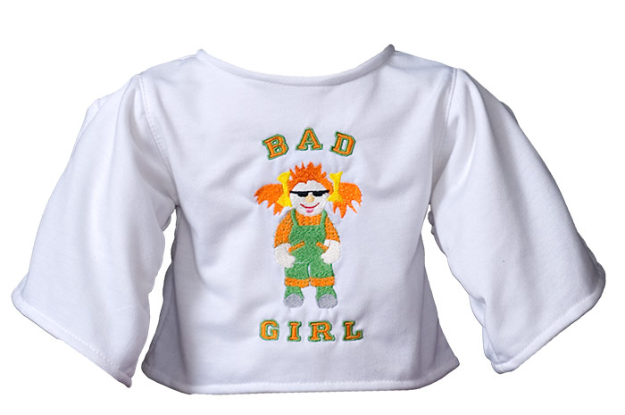 "Shirt ""Bad Girl"" white"